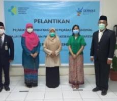 Pelantikan Pejabat Administrasi dan Pejabat Fungsional di lingkungan Kementerian Kesehatan oleh Menteri Kesehatan RI